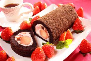 完熟いちご,朝摘み,生チョコ,ロールケーキ,バレンタイン